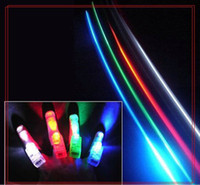 Wholesale OR pc Color Led Bright Finger Ring Lights Beam Torch valentine christmas party gifts