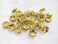 Wholesale Findings mm Zircon Rondelle Spacers Beads Pieces