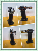Wholesale 19 Black Portable Welding Torch Butane Gas Soldering Gun Light Refillable two flames LT1104