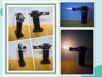 Wholesale 19 Black Butane Soldering Gun Portable Welding Torch Refillable two flames LT1104