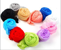 Wholesale Beautiful Scarf Shawl Wrap Fashion Polyester Sweet candy Wrinkled scarves EMS