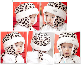 NEW Fashion Children knitting Hats Baby Caps Baby hats Leopard hats Tiger Velelt cap 4 colors can mix