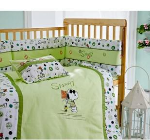 Baby Bedding Kub Catoon Snoopy Cute Infant Bedding Set ...