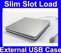Wholesale Super slim USB SATA external slot in load CD DVD burner Superdrive case