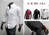 Casual Men Cotton Hot! Men's shirt Luxurious Inside Silk Classic Ornament Nobility Long sleeve Slim Shirt 1278