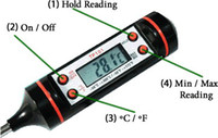 Wholesale DIGITAL PROBE THERMOMETER FOOD COOKING BBQ MEAT STEAK TURKEY WINE JAM KITCHEN