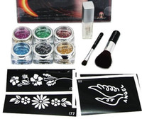 Wholesale temporary tattoo kit for body art paint colors