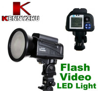 Wholesale Camera Flash Strobe Video Studio LED Light GN42 W With Barndoor amp Battery For F550 LCD Display
