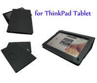 Wholesale PU Leather Case Pouch Cover Stand for Lenovo ThinkPad Tablet quot Against Scratches Dust black