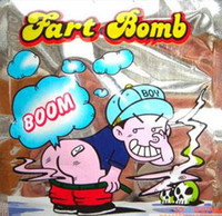 Wholesale HOt sell Pack Smelly Fart Bomb Bags Stink Bomb Bag Joke Gadget Prank Gag Gift