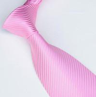 Wholesale men ties solid color ties neckties pink tie shirt tie neck tie colors business ties Woven ties