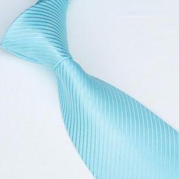 2018 Fashion men ties solid color ties neckties sky blue tie cravat Pure Young Man Neckwear
