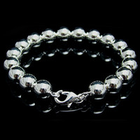 Wholesale Retail lowest price Christmas silver fashion MM Solid Bracelet B70