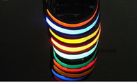 Wholesale 6pcs x Adjustable LED Light up Glow Safety Collar Pet Dog NEW special gift for pet lover friends
