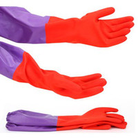 Cotton Household Gloves - Latex Gloves Cleaning Gloves Rubber Plus Fleece Gloves Household Gloves Thick Warm Gloves pair