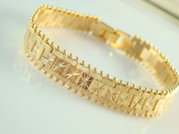 Wholesale New Design Men s Cool Watch Bracelet Vogue Gold plated Brass Chains mm inch Good selling