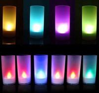 Wholesale 100pcs Led candle light Voice activated Candles Lights Voice control of Candles gift christmas light