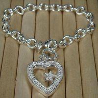 Wholesale Retail lowest price Christmas gift silver Bracelet bangle B133