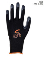 Wholesale 12pcs Dozen Black Nylon Nitrile Foam Coated Working Glove Gloves e_shop2008