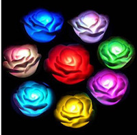 Wholesale 7 Colors Romantic Gradual Change LED Rose Night Lights Christmas Collection can mixed