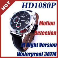 Wholesale 4GB Waterproof IR Watch Camera HD P with Motion Detection Night Vision Hidden Cam e_shop2008