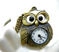 Women's animal stationary - Owl Antique quartz pocket watches necklace watch classical design christmas gift