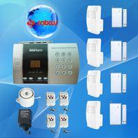 Wireless alarm voice dialer - 4 Door Sensors Zone Voice Alert Wireless PSTN Burglar Home Security Alarm Systems With Auto Dialer SA