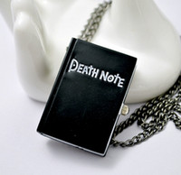 Wholesale Death Note Antique quartz pocket watches necklace christmas gift