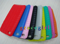 Wholesale Silicone case soft tire silicon rubber skin cover Cases for iPod Touch G