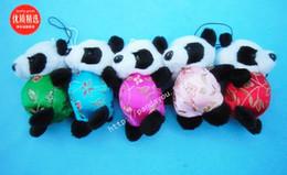 New Plush Phone Chains Cellphone Charms Mobile Straps China Panda Mobile Pendant 30 pcs lot Free