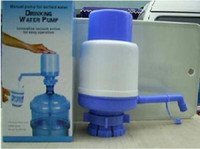 Plastic ECO Friendly  Fedex Free Shipping Bottled Drinking Hand Press Water Pump Dispenser with retail color box