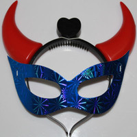Wholesale Newest fashion Multi colors ox horn LED mask halloween party masks ox horn masks