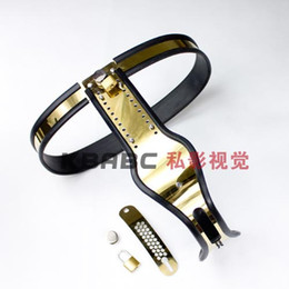Wholesale Model T Titanium Female Adjustable Premium Chastity Belt with One Locking Cover Removable