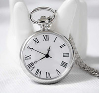 Wholesale Stainless steel Antique quartz pocket watches necklace christmas gift