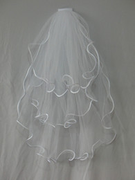 Wholesale Stock Hot Vintage Wedding Veil White Layers Wedding Dresses Bridal Gowns Accessories Dress O0d