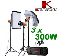 Standard strobe light kit - 900W Photo Studio Strobe Flash Light Lighting Kit x W Stand Bag GN With Buzz Function