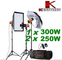 Wholesale 800W Photo Studio Strobe Flash Light Lighting Kit W x W Stand Bag With Buzz Function