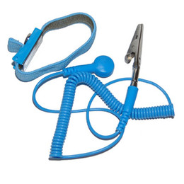 Wholesale Anti Static ESD Safe Wrist Strap Discharge Band Grounding Static Release w Clip Blue e_shop2008