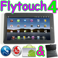Wholesale 10 quot tablet pc Flytouch internal G WCDMA G calling Android GPS webcam christmas