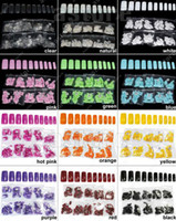 Wholesale Brand new in a bag French Acrylic Artificial Full False Nail Art Tips color to choose