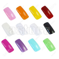 Full French Nail Tips Oval Nail Tips 12 set lot + (500 pcs in a bag) French Acrylic Artificial Full False Nail Tips 12 color to choose