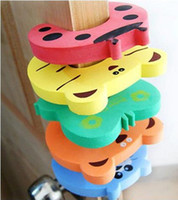 Red safety baby - 10pcs Cartoon Baby Safety Door Stopper baby safety gate card Baby Safety products