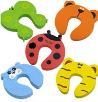 Wholesale 20pcs Cartoon Baby Safety Door Stopper baby safety gate card Baby Safety products