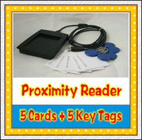Wholesale USB KHz EM4100 RFID Proximity Reader with Cards Key Tags bivictory