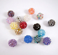Wholesale Fashion mm Loose Colorful Resin Rhinestone Crystal Ball Beads