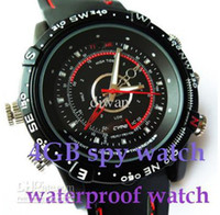 Wholesale Spy watch mini dv watches hidden waterproof watch dvr camera GB video sound without packages