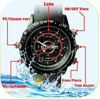 hidden camera watch - waterproof Spy watch hidden waterproof watch dvr camera GB hd video amp sound spy watch with retail