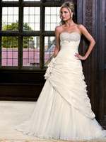 Wholesale A stunning ruched taffeta wedding dress from the Ronald Joyce collection style Livia fe