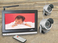 Wholesale 2 GHz Wireless inch TFT LCD Baby Monitor Receiver Security System CCTV Cameras
