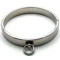 Wholesale Male Luxury Stainless Steel Heavy Duty Collar Thick Iron Locking Collar Mirror Polished